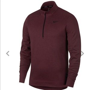 Nike Men's Golf therms repel 1/4 zip maroon.